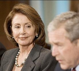 Nancy Pelosi And Dubya
