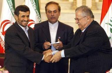 Ahmadinejad and Talabani