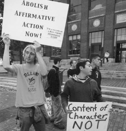 boys protest affirmative action