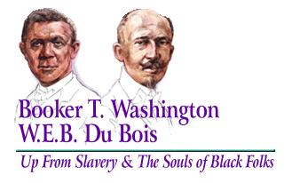 a comparison of works between booker t washington and w e b du bois And overview the speeches, writings and accomplishments of booker t washington's and web du bois encapsulated two very.